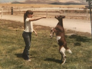 Wende Lourenco and Teddy Goat