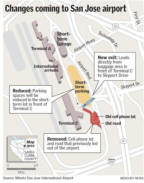 Sjc Terminal Map : terminal, Parking, Airport, Challenge', Mercury