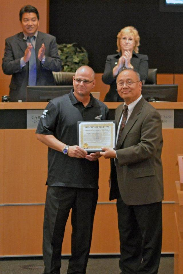 Tim Watson Bus Driver : watson, driver, Driver,, Enforcement, Honored, Rescuing, Abducted, Milpitas, Toddler, Mercury