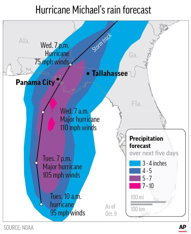 Hurricane Michael | Map - Tallahassee Democrat