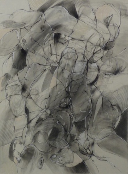 Echo I (2011), Charcoal and pastel drawing, 22 x 30 inches