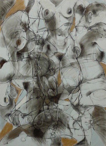 Echo II (2010), Charcoal and pastel drawing, 22 x 30 inches