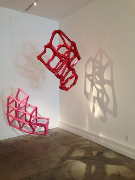 Structures of Essential Folly II and III (2015), cardboard tubes, duct tape, variable dimension