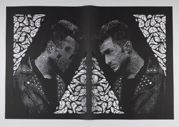 """FacingDeath (2016), hand cut paper, 20 x 30"""""""