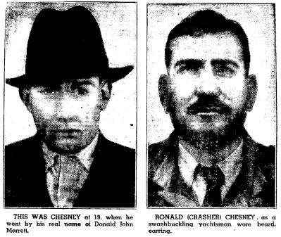john donald merrett aka ronald chesney charleston gazette 5 16 1954