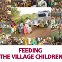 Feeding the village children.
