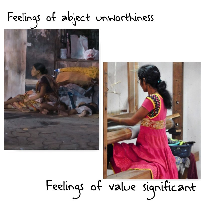 feelings of worthy value