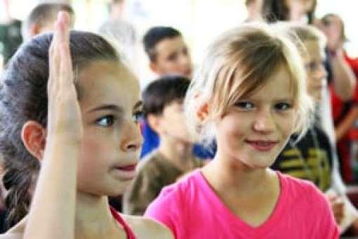 Girls at Ukraine Summer Camp