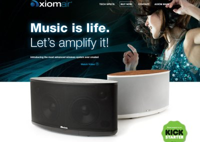 Axiom Air Micro-Site