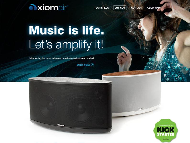 Axiom Air Micro-Site