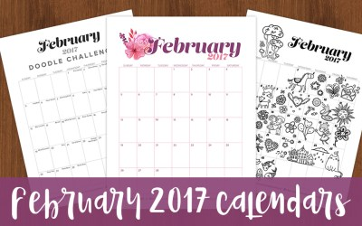 Free February 2017 Calendars