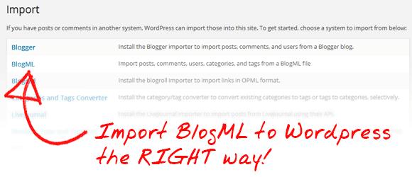 Import BlogML to Wordpress