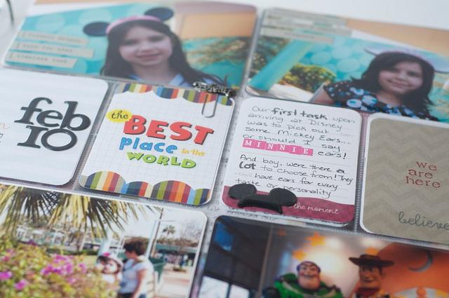 Project Life Disney Day 1 closeup