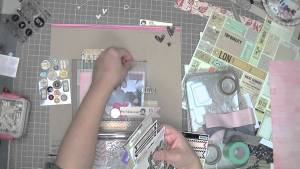 Scrapbooking Process: Young and in love