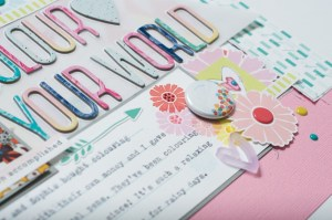 Scrapbooking Process: Colour Your World
