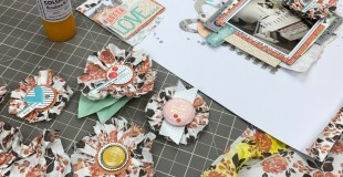 DIY Rosette Embellies from Freckled Fawn Tissue Paper