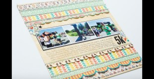 Scrapbooking Process: 5K layout and Insert (The Doctors Are In)