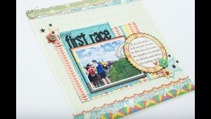 Scrapbooking Process: First Race (The Doctors Are In)