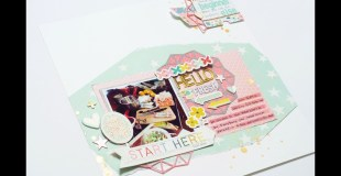 Scrapbooking Process: Hello Fresh (with the Platinum 6)