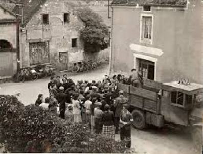 People being rounded up or escaping during the French Holocaust.
