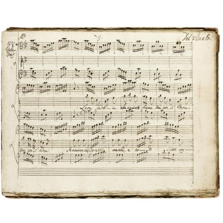 Original Vivaldi score auctioned at Sotheby's.