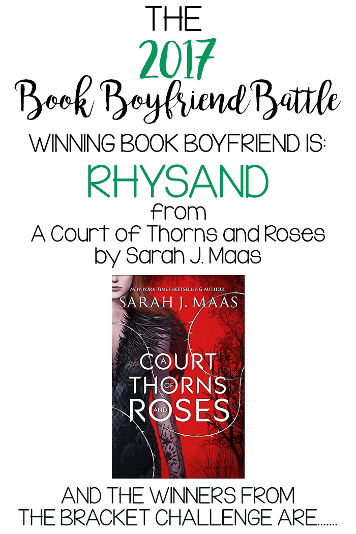 The winning BOOK BOYFRIEND from the 2017 Book Boyfriend Battle is….