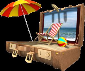voyage_mer_parasol_ballon_valise