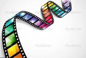 Colorful film strip