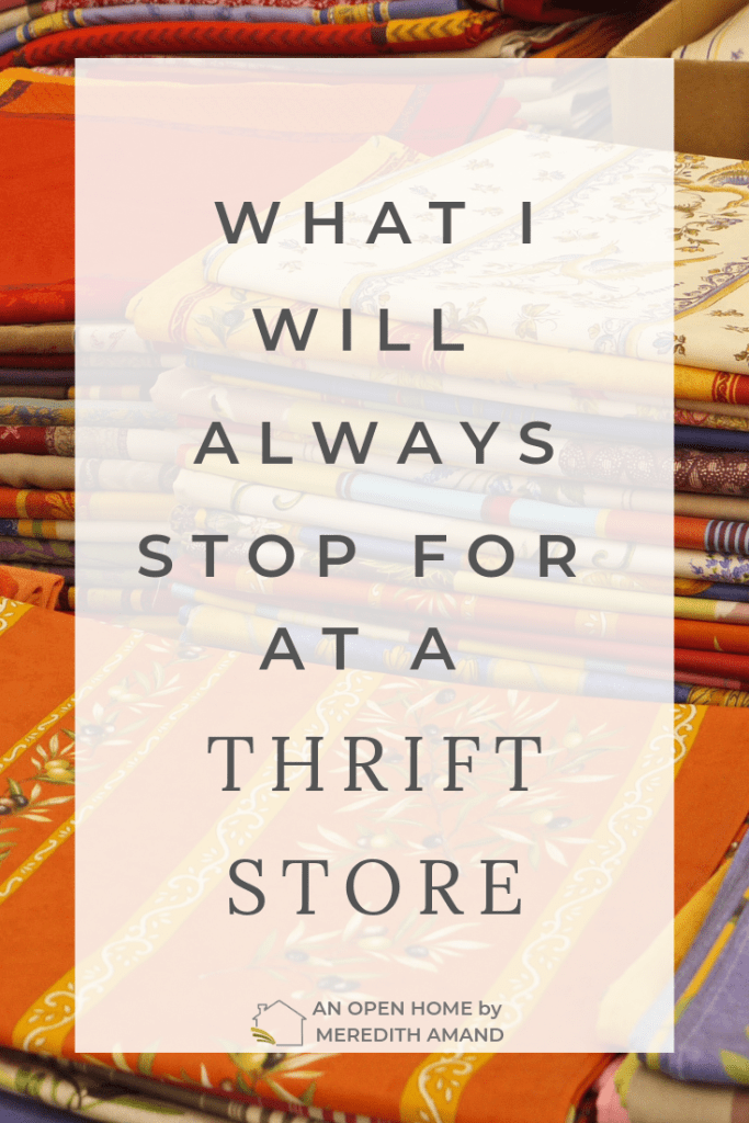 What I will always stop for at a thrift store - my absolute favorite second hand items that will make me take a second look | MeredithAmand.com