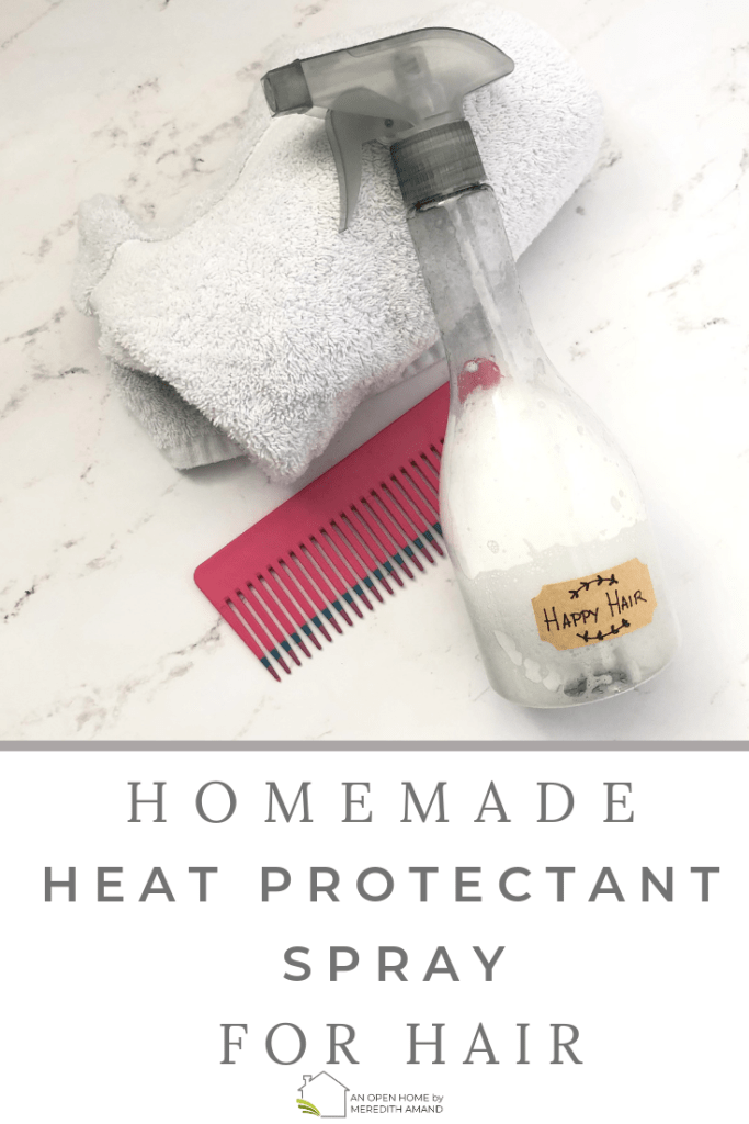 Homemade Heat Protectant Spray for Hair - Just 3 ingredients to keep your hair soft and smooth | MeredithAmand.com