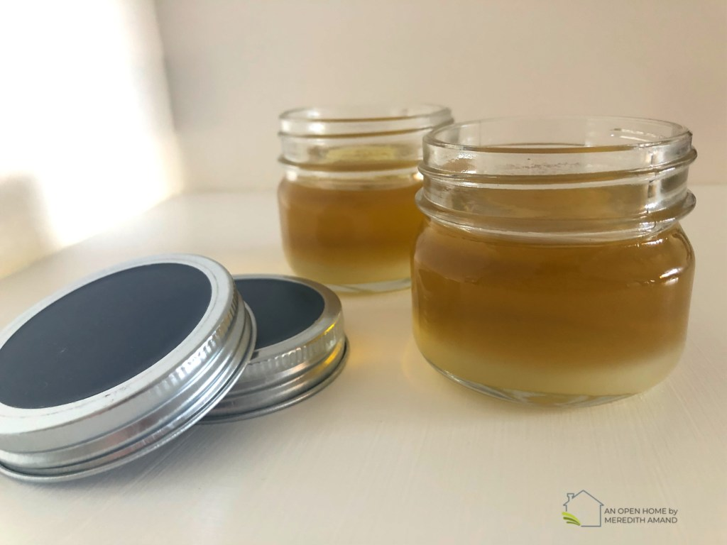 DIY Shea Butter Foot Balm - All-natural and only 3 ingredients, a lightweight solid foot lotion for summer toes! | MeredithAmand.com