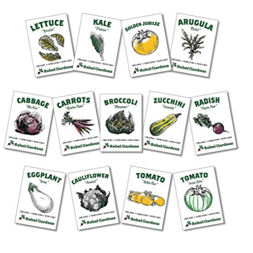 heirloom seed packets from Amazon Gift guide for gardeners MeredithAmand.com