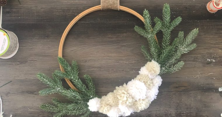 Winter Pom-Pom Wall Hanging
