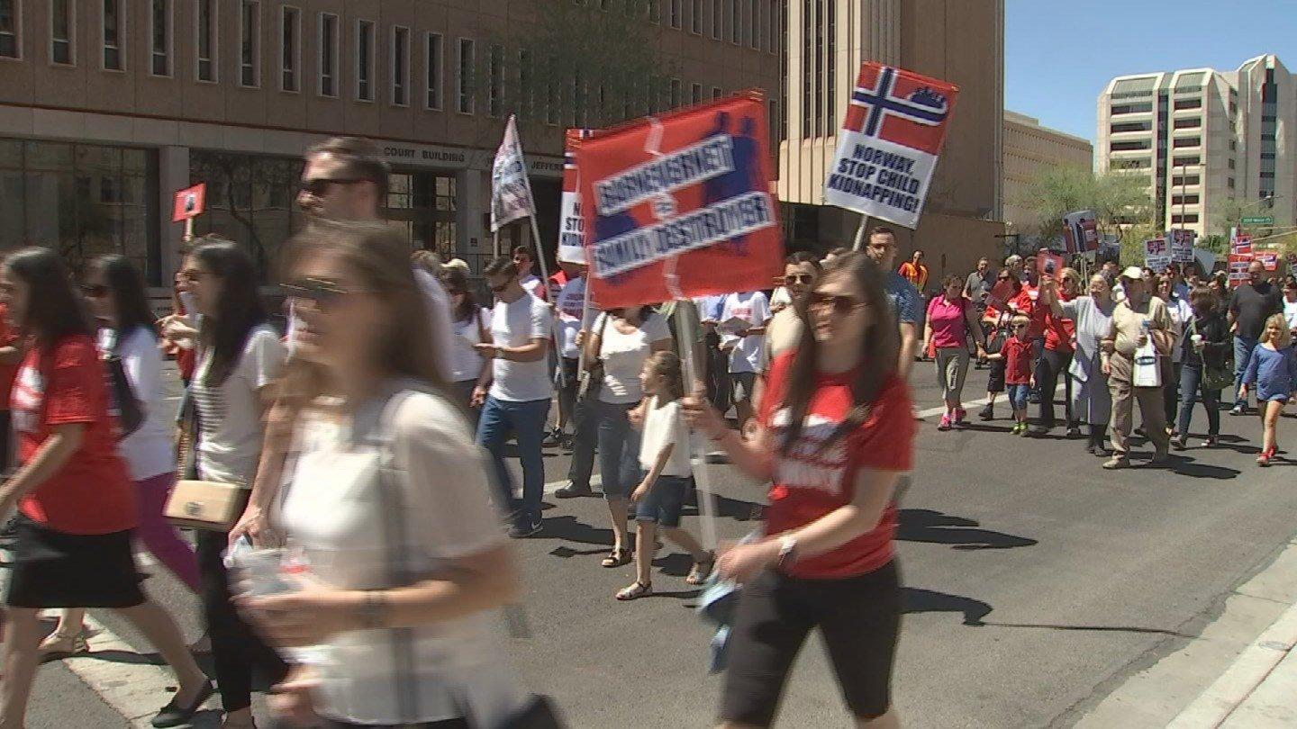 Marchers Hold Rally In Downtown Phoenix In Support Of