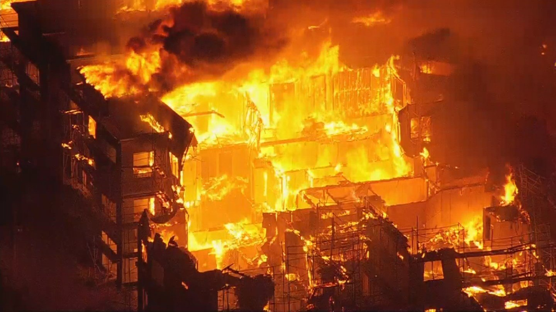 Inferno in Gilbert Apartment complex under construction