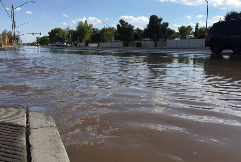 Water main break restricts traffic in Mesa  Arizonas Family