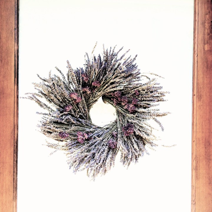 2014.7.25 dried lavendar and oregano wreath