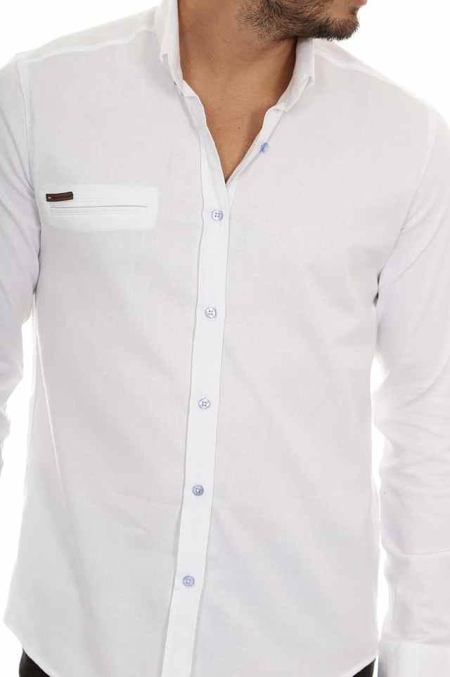 Camisa Branca Homens Altos e Magros