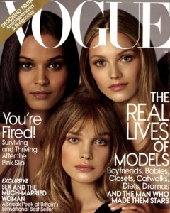 Liya Kebede on the cover of Vogue May 2009