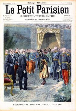 Ras Mekonnen (father of Emperor Haileselassie) at the Élysée Palace in France (1902) | Le Petit  ...