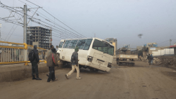 Bus crashes into Addis Ababa light rail