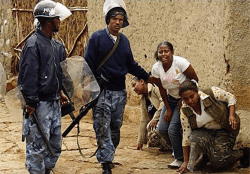 The Ethiopian federal police savagely beat up these helpless young women — the kind of atr ...