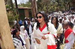 First Lady ZinashTayachew visits Amhara regional state