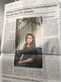 """""A true honor to be featured today on the front page of Switzerland's nationa ..."