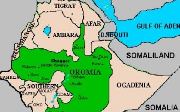 OLF map includes Wollo as part of Oromia Region – Mereja com