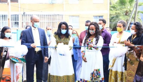 Deputy Mayor of Addis Ababa City officially inaugurated the first ever feeding center for the needy