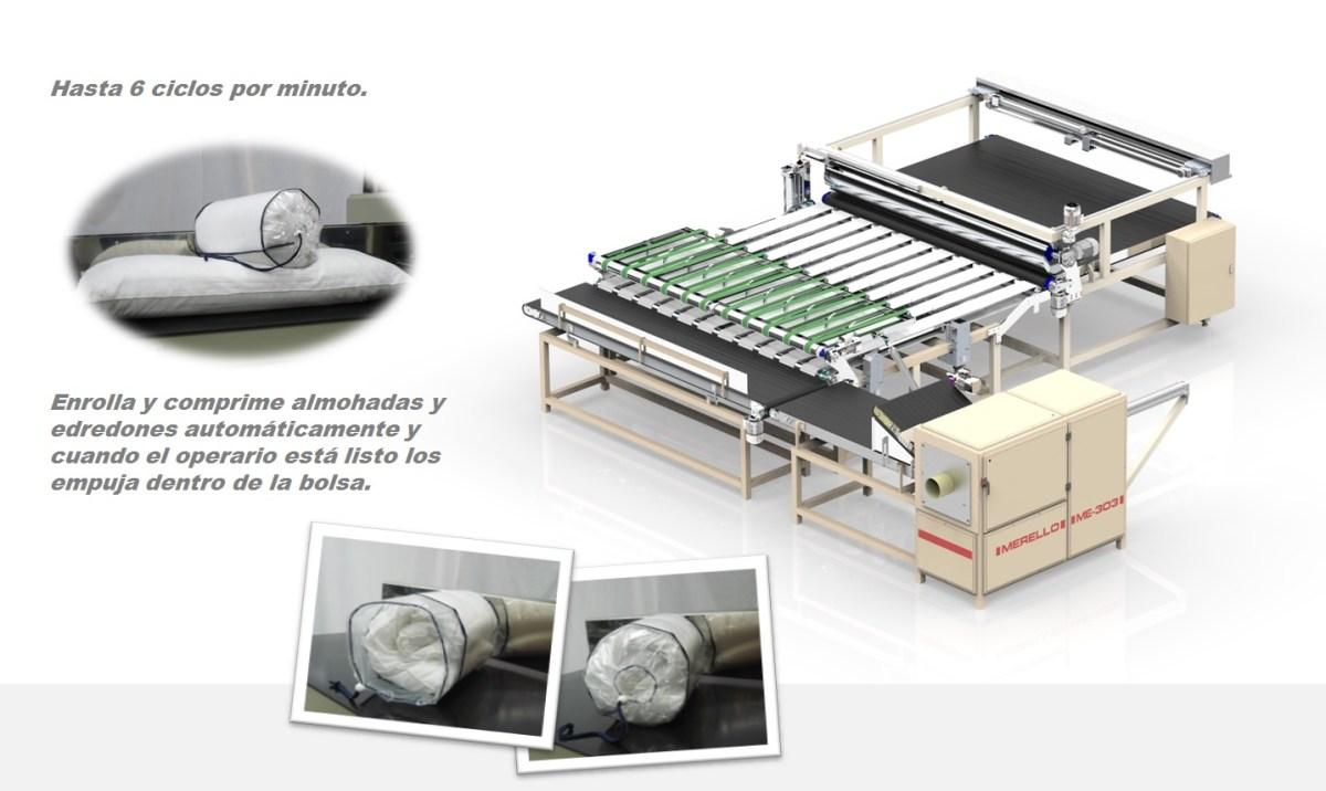 ME-303 Enrolladora de almohadas y edredones