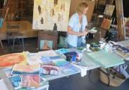 Julian-Schnabel-MoAFL-artist-workshop-Meredith-Clements