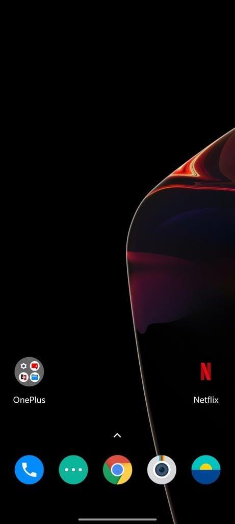 Skærmbillede fra OnePlus 7T