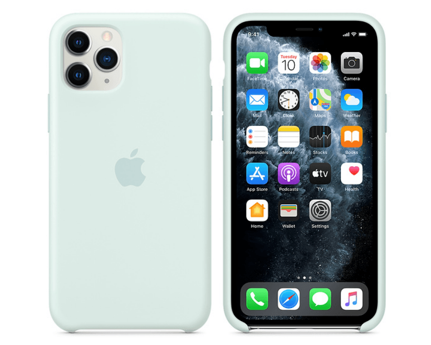 Apple iPhone 11-serien med ny havgus silikonecover (Foto: Apple)